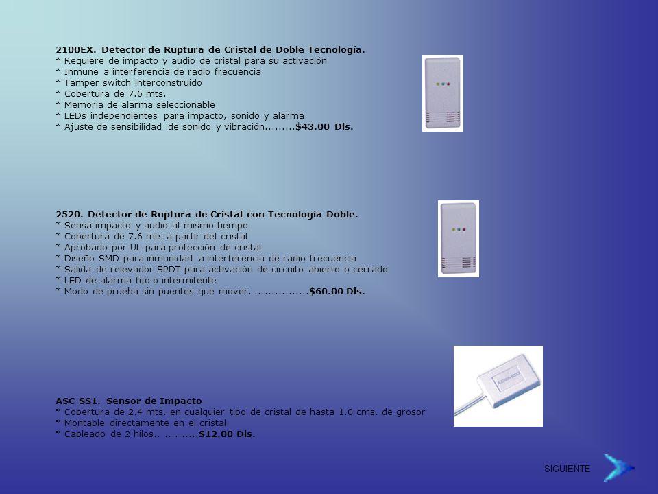 2100EX.Detector de Ruptura de Cristal de Doble Tecnología.