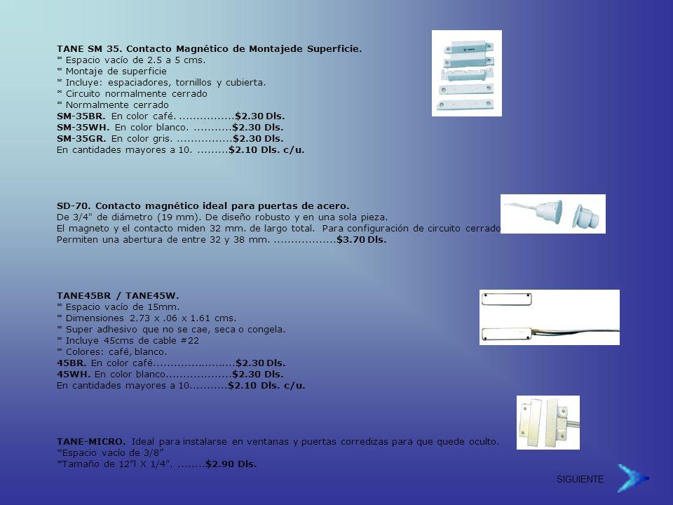 TANE SM 35.Contacto Magnético de Montajede Superficie.