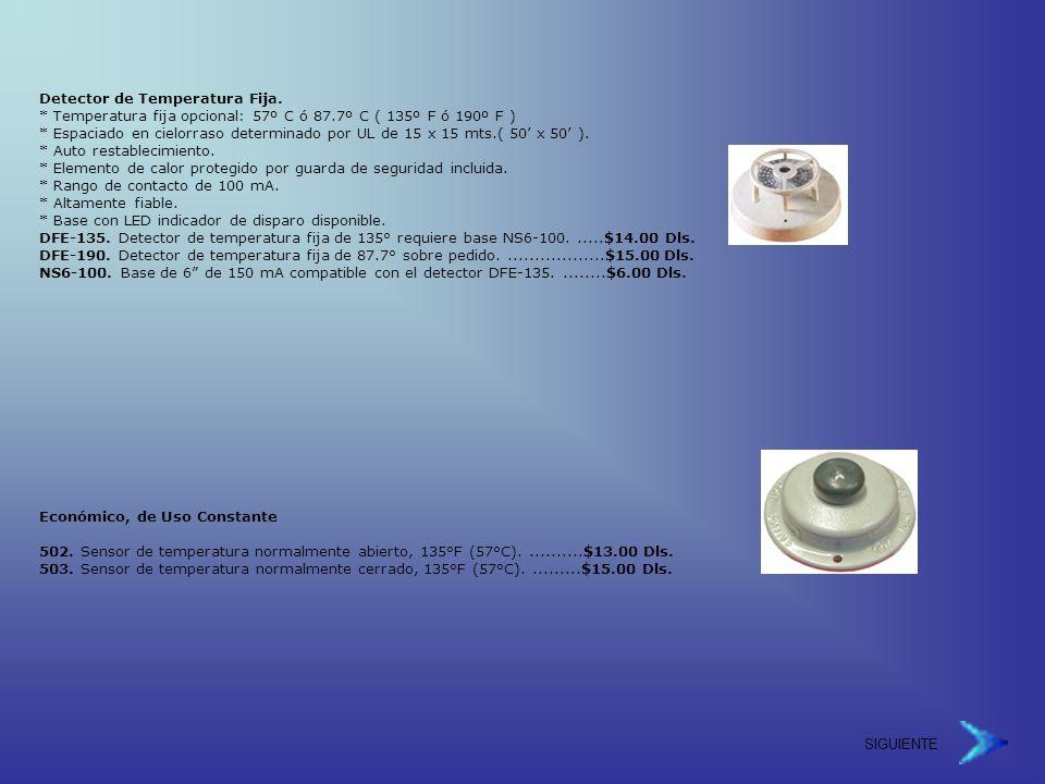 Detector de Temperatura Fija.
