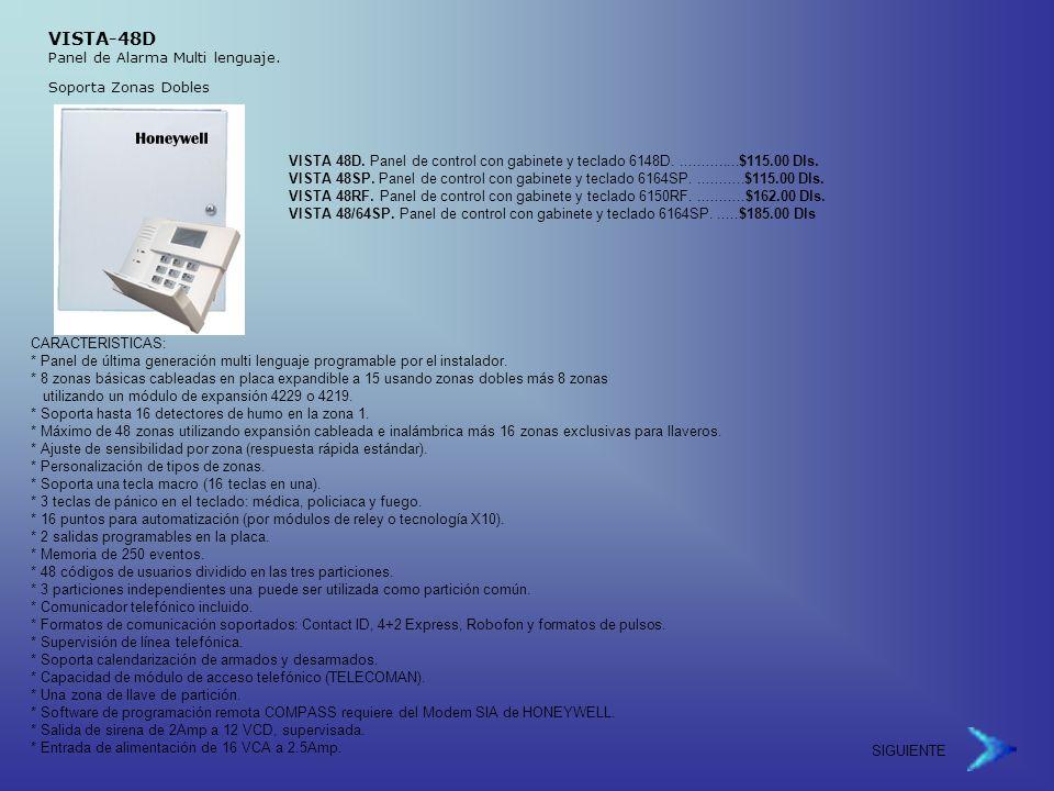 VISTA-48D Panel de Alarma Multi lenguaje.