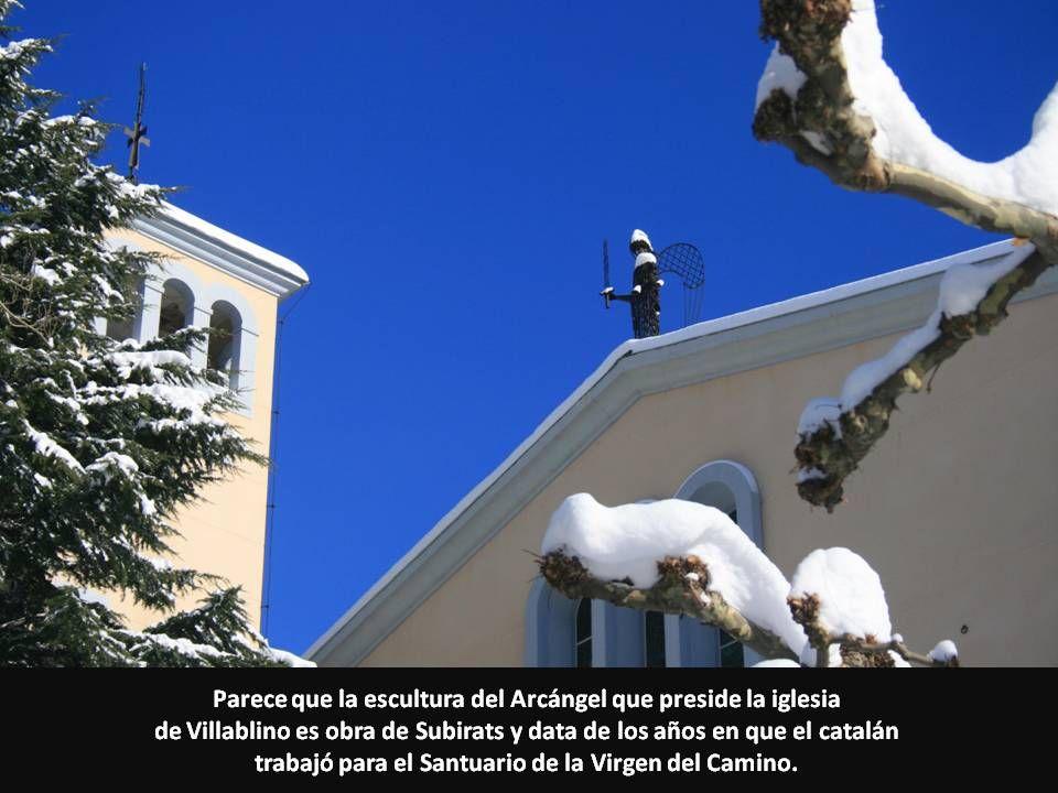 Parece que la escultura del Arcángel que preside la iglesia de Villablino es obra de Subirats y data de los años en que el catalán trabajó para el San