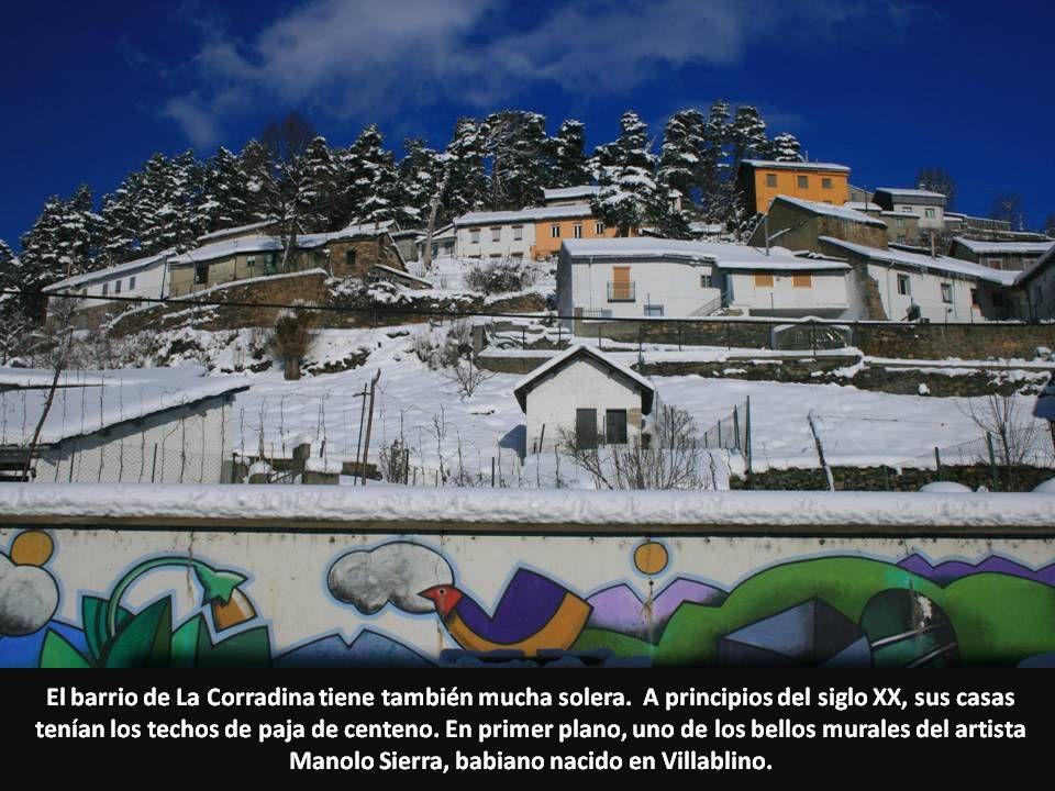 El barrio de La Corradina tiene también mucha solera. A principios del siglo XX, sus casas tenían los techos de paja de centeno. En primer plano, uno