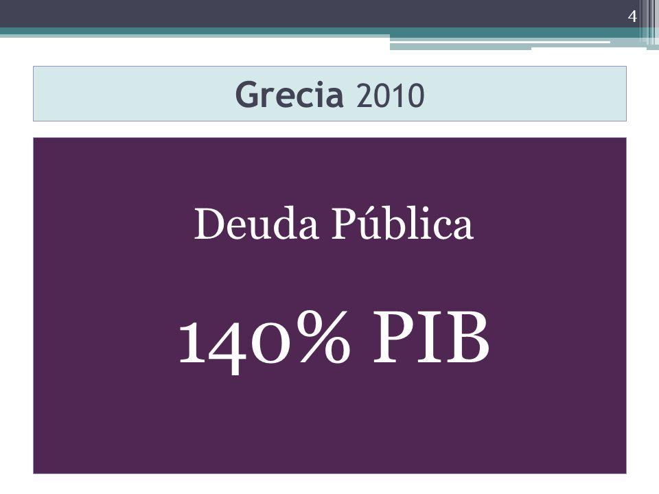 Grecia 2010 Deuda Pública 140% PIB 4