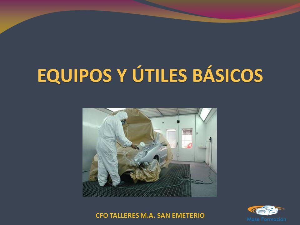 CFO TALLERES M.A. SAN EMETERIO EQUIPOS Y ÚTILES BÁSICOS