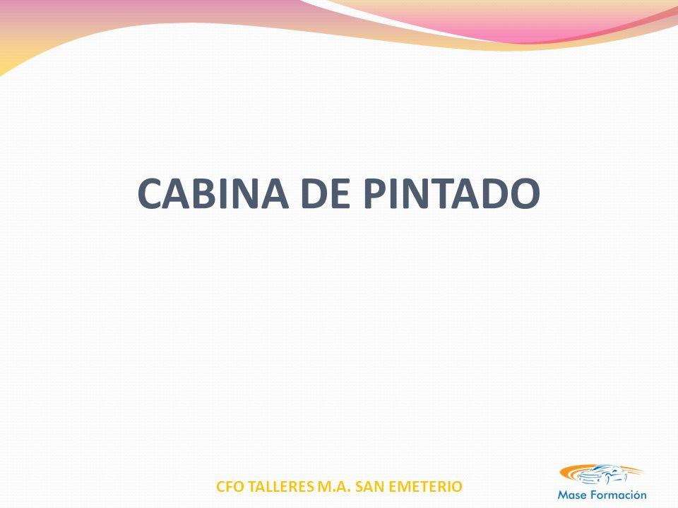 CFO TALLERES M.A. SAN EMETERIO CABINA DE PINTADO