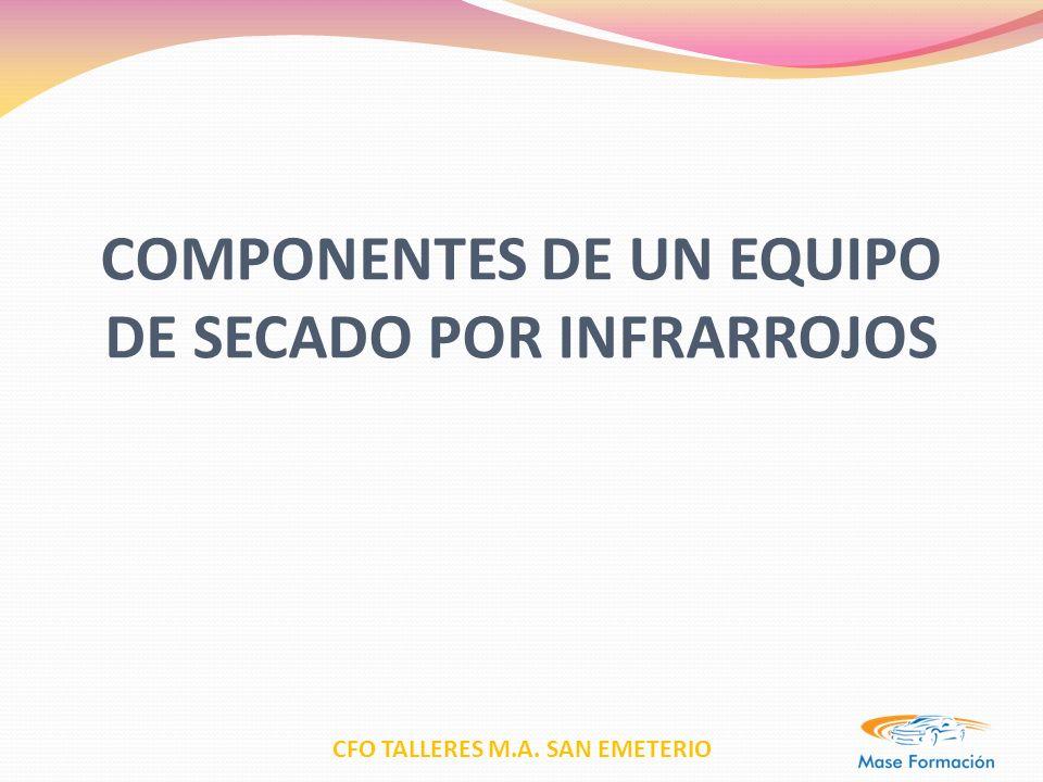CFO TALLERES M.A. SAN EMETERIO COMPONENTES DE UN EQUIPO DE SECADO POR INFRARROJOS