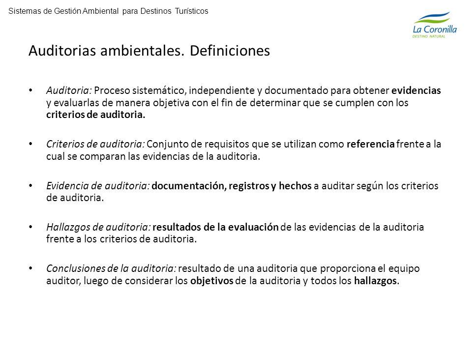Auditorias ambientales.