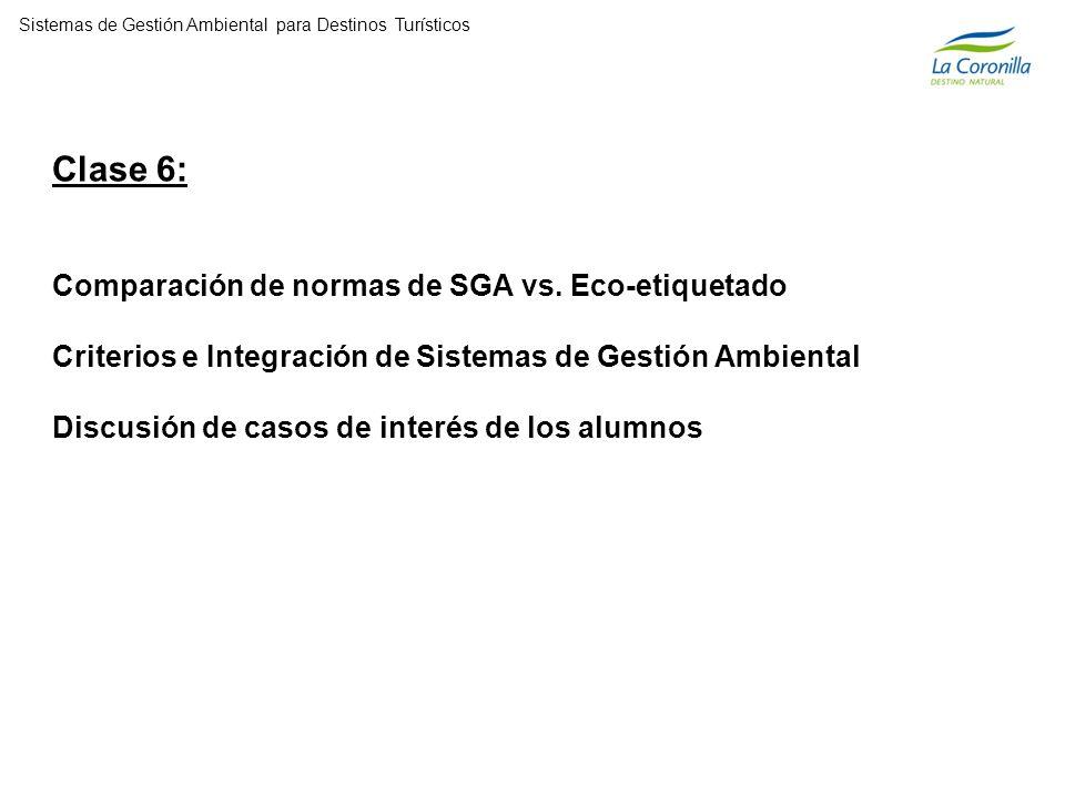 Clase 6: Comparación de normas de SGA vs.