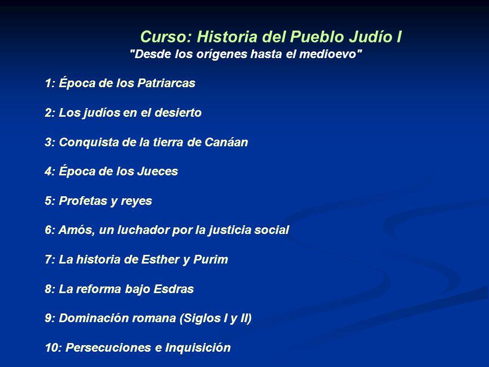 Curso: Historia del Pueblo Judío I