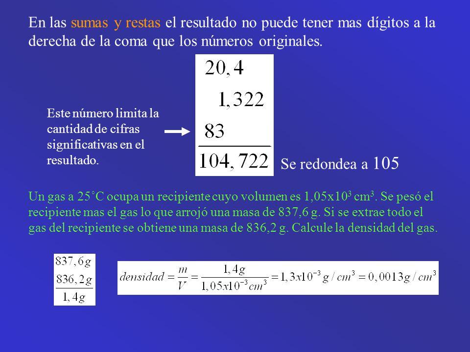 En las sumas y restas el resultado no puede tener mas dígitos a la derecha de la coma que los números originales.