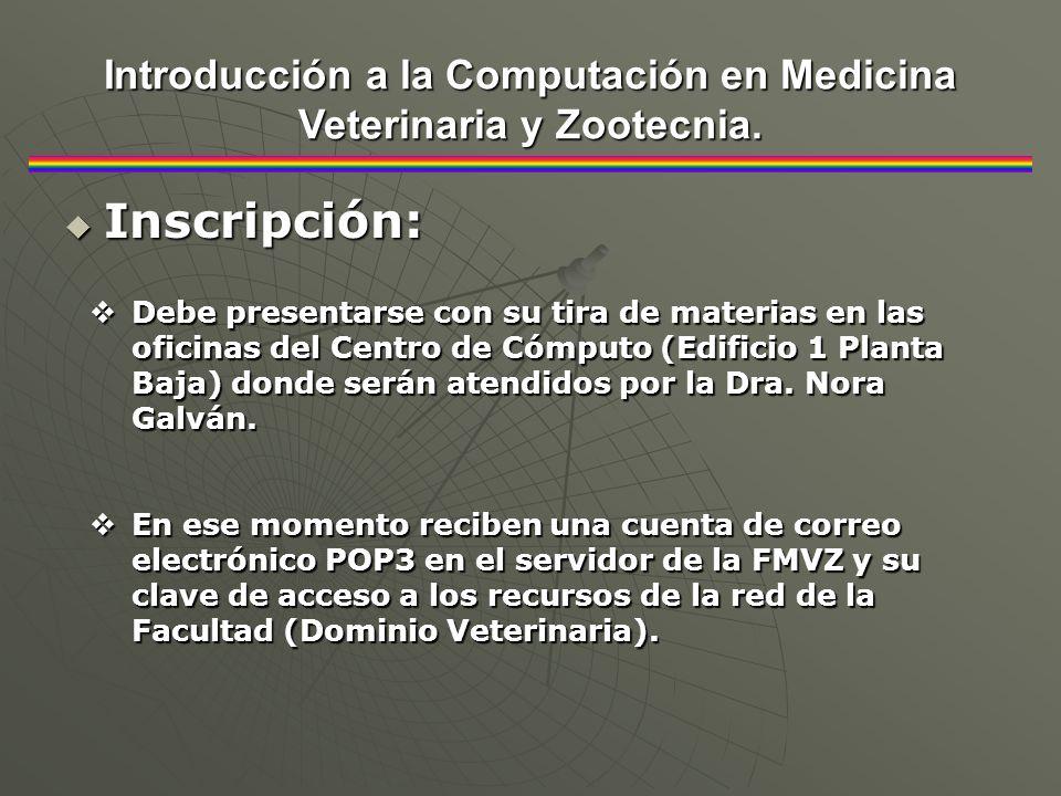 Promoción: Promoción: Introducción a la Computación en Medicina Veterinaria y Zootecnia.