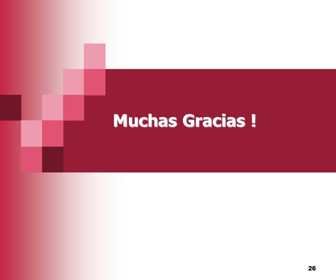 26 Muchas Gracias !