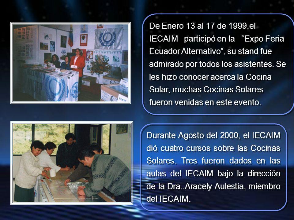 Durante Agosto del 2000, el IECAIM dió cuatro cursos sobre las Cocinas Solares.