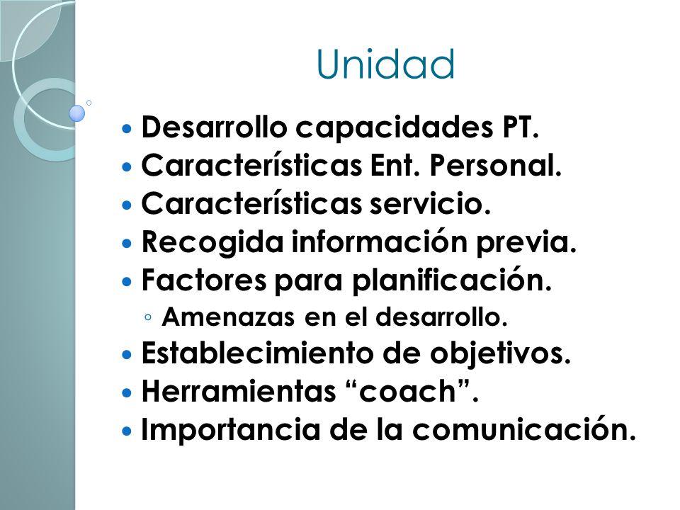 Unidad Desarrollo capacidades PT.Características Ent.