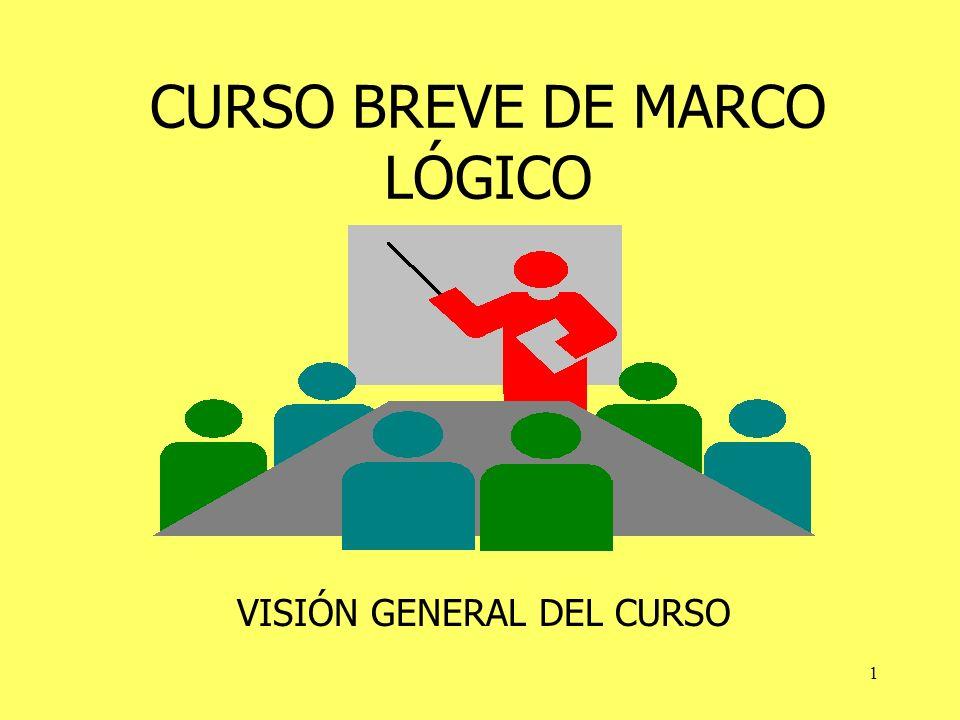 1 CURSO BREVE DE MARCO LÓGICO VISIÓN GENERAL DEL CURSO