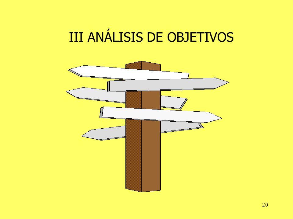 20 III ANÁLISIS DE OBJETIVOS