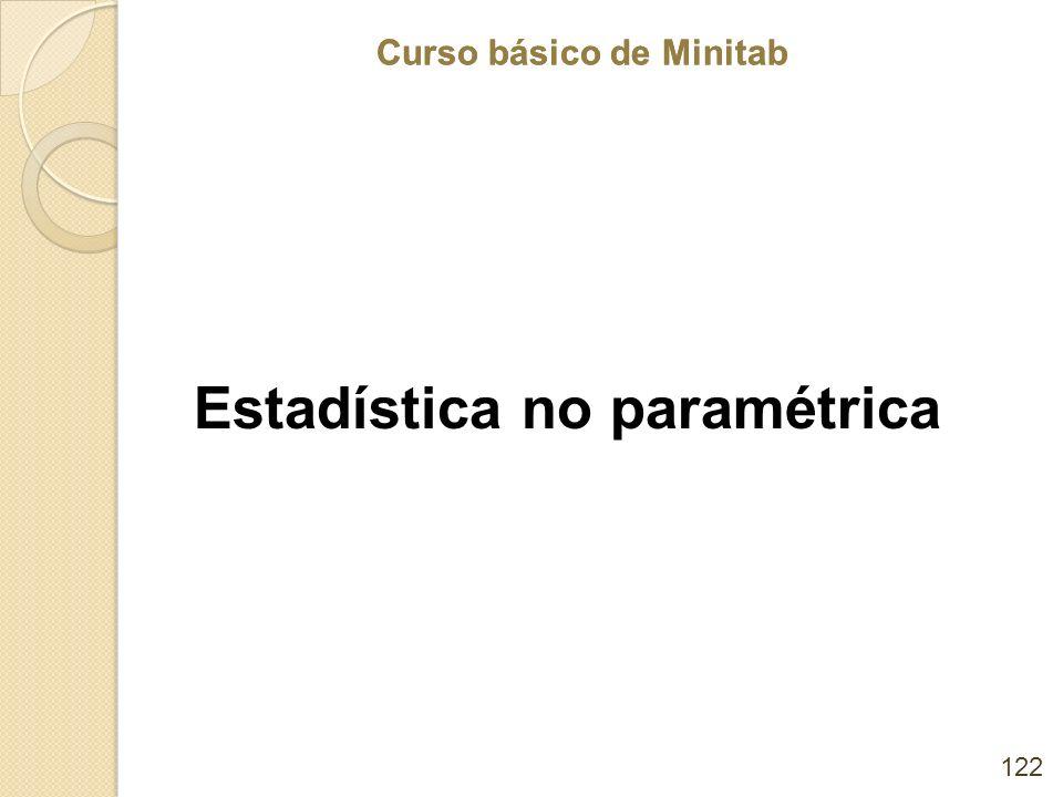 Curso básico de Minitab Estadística no paramétrica 122