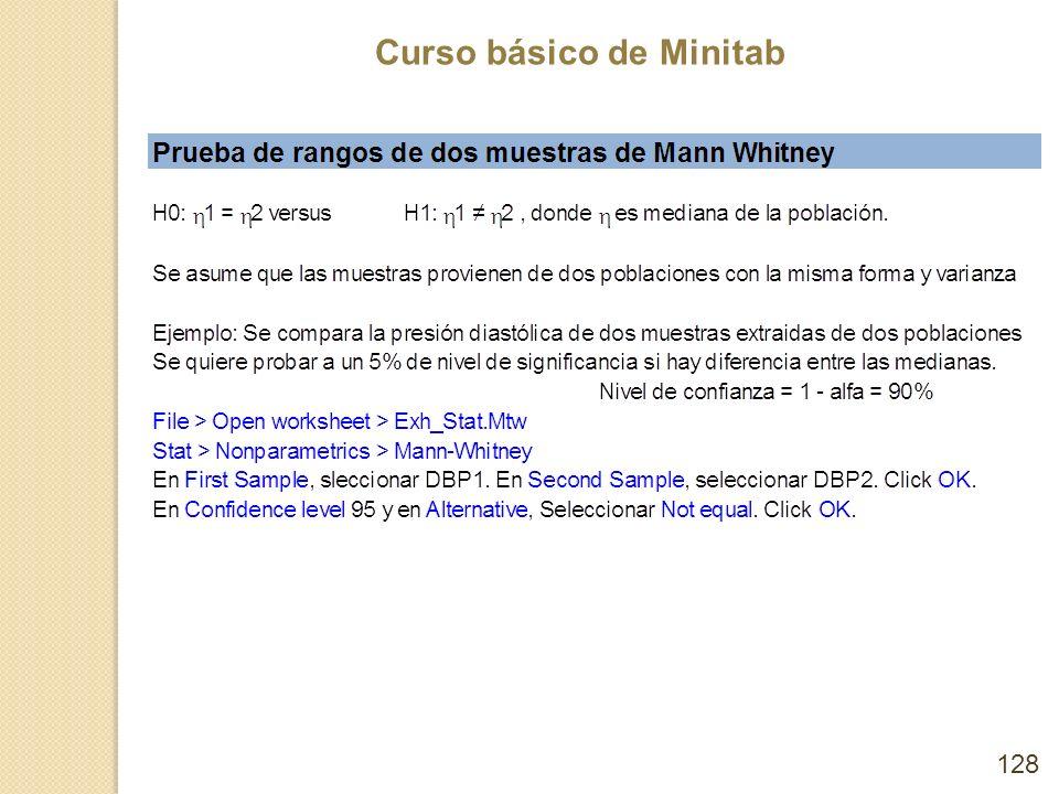 Curso básico de Minitab 128