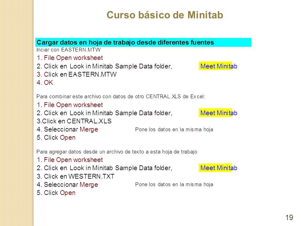 Curso básico de Minitab 19