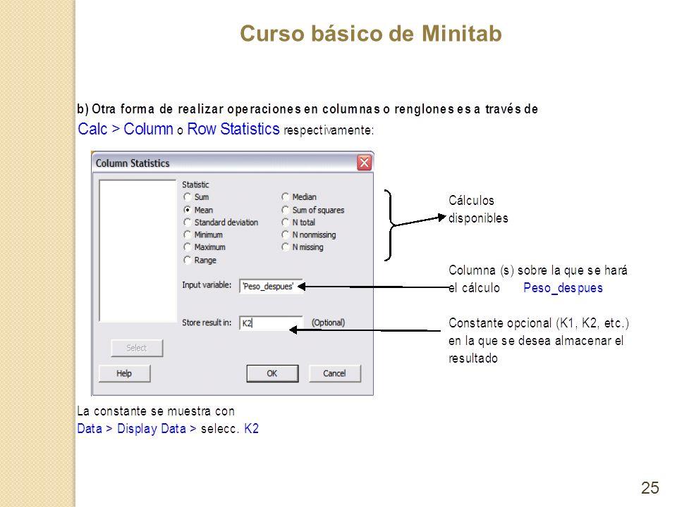 Curso básico de Minitab 25