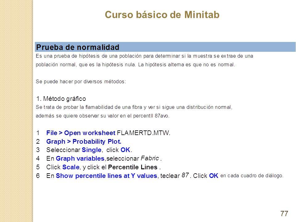 Curso básico de Minitab 77