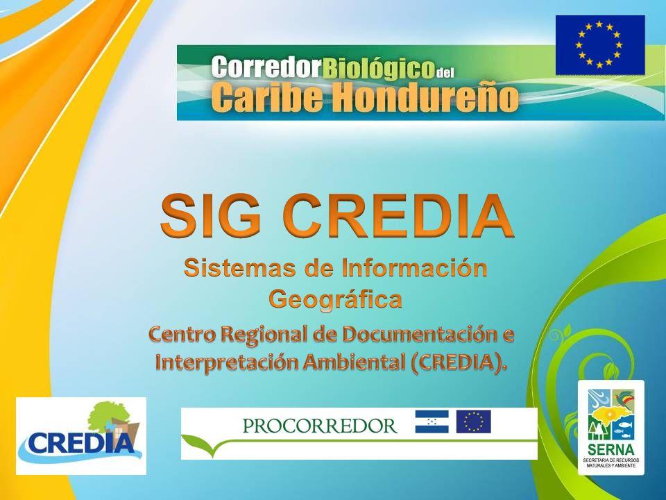 FORMACIÓN USO Y MANEJO SIG SIG TEMÁTICO SIG TRANSVERSAL SERVICIOS Y FORMACIÓN AD- HOC OFERTA SERVICIOS OUTSOURCING PROYECTOS FINANCIACIÓN EXTERNA MUNICIPALIDADES ONGs NACIONAL OTROS INSTITUCIONES SERVICIOS PROFESIONALES LICITACIONES Y OFERTAS CONVOCATORIAS COFINANCIACIÓN PROYECTOS SECTOR PRIVADO Disponer de una OFERTA de SERVICIOS desde el SIG CREDIA