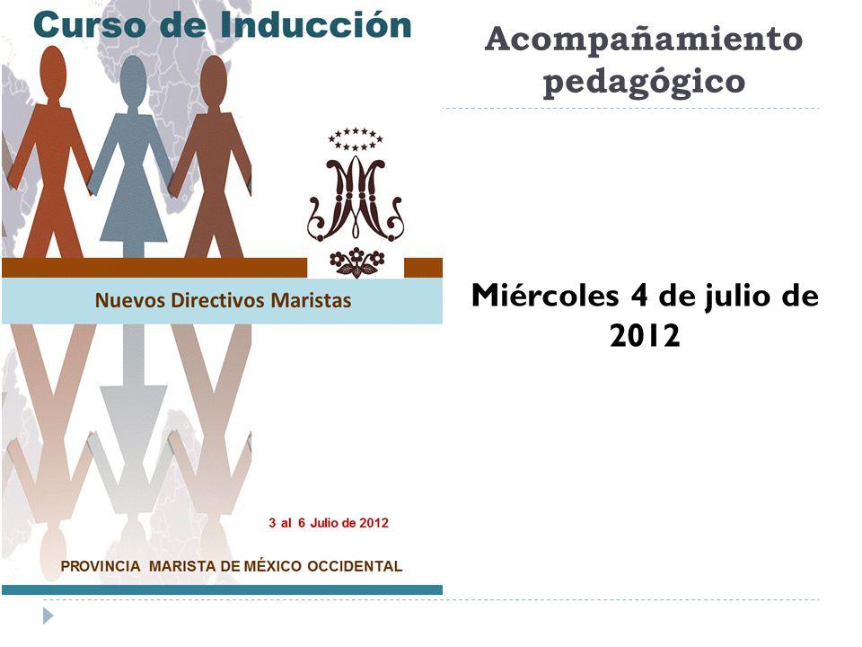 Acompañamiento pedagógico Miércoles 4 de julio de 2012