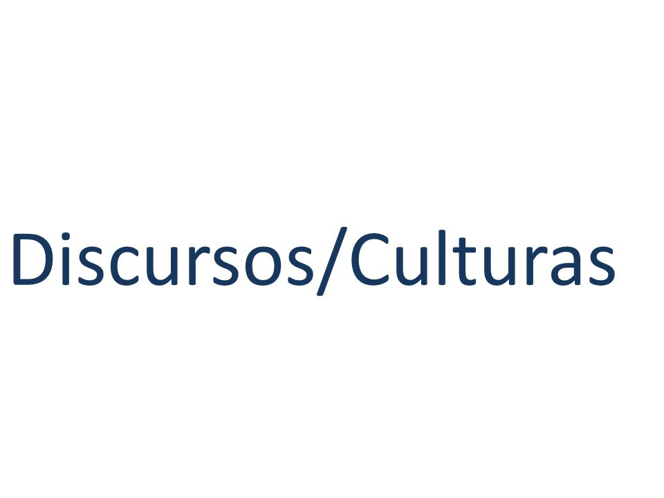 Discursos/Culturas