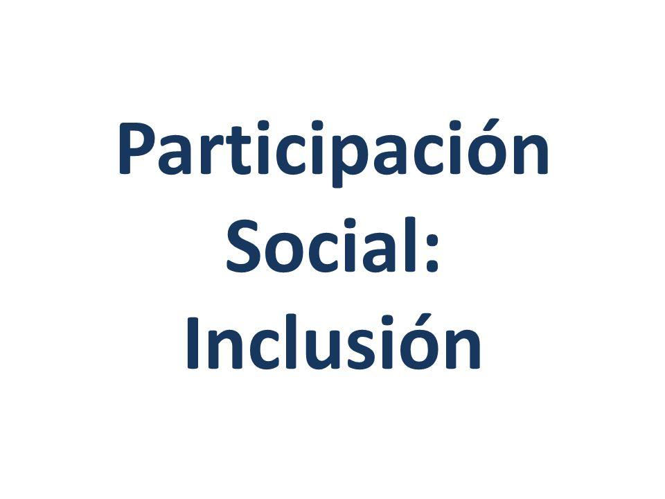 Participación Social: Inclusión