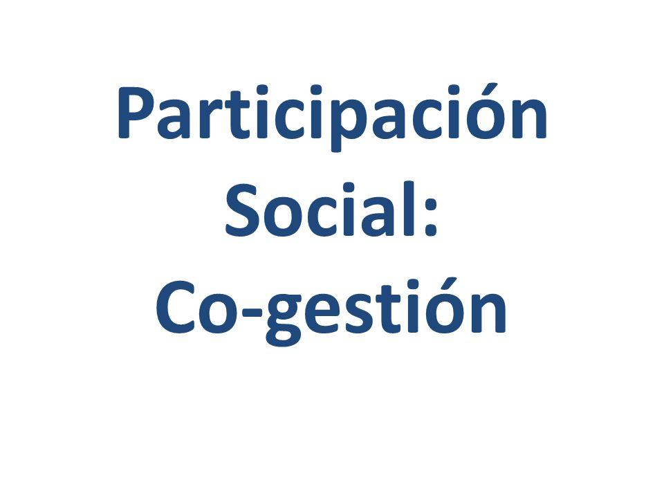 Participación Social: Co-gestión