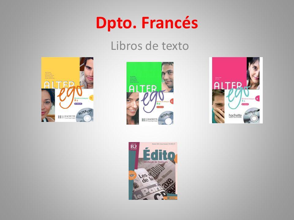 Dpto. Francés Libros de texto