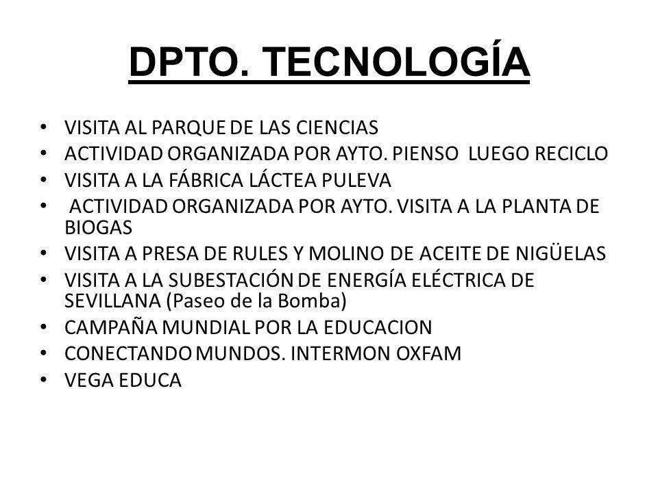 DPTO.TECNOLOGÍA VISITA AL PARQUE DE LAS CIENCIAS ACTIVIDAD ORGANIZADA POR AYTO.