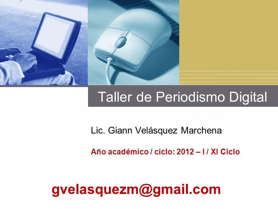 Taller de Periodismo Digital Lic.
