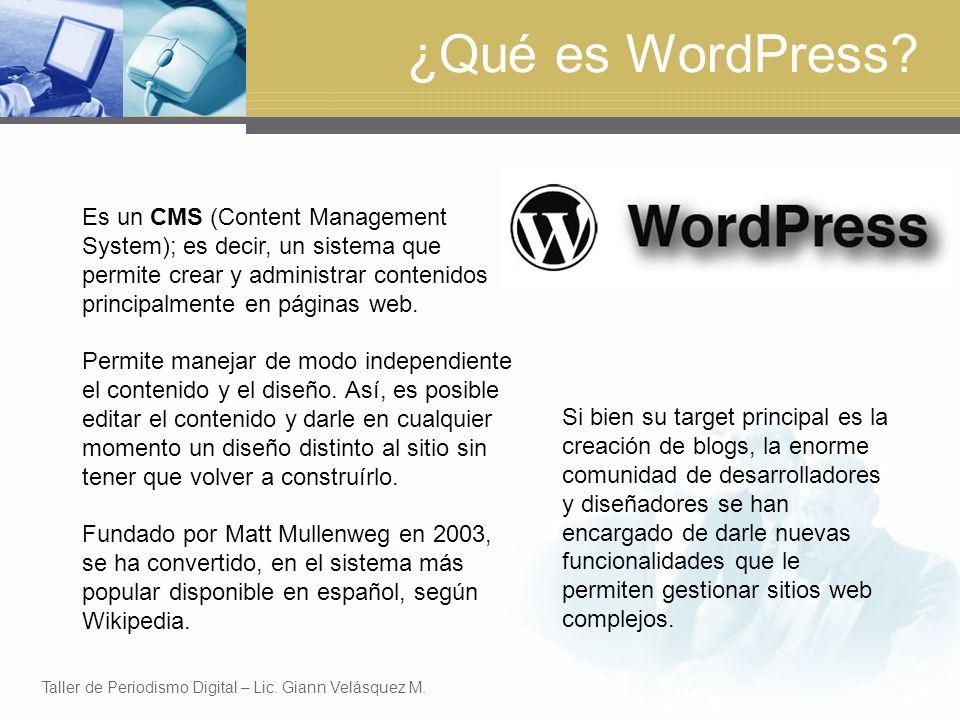 ¿Qué es WordPress.