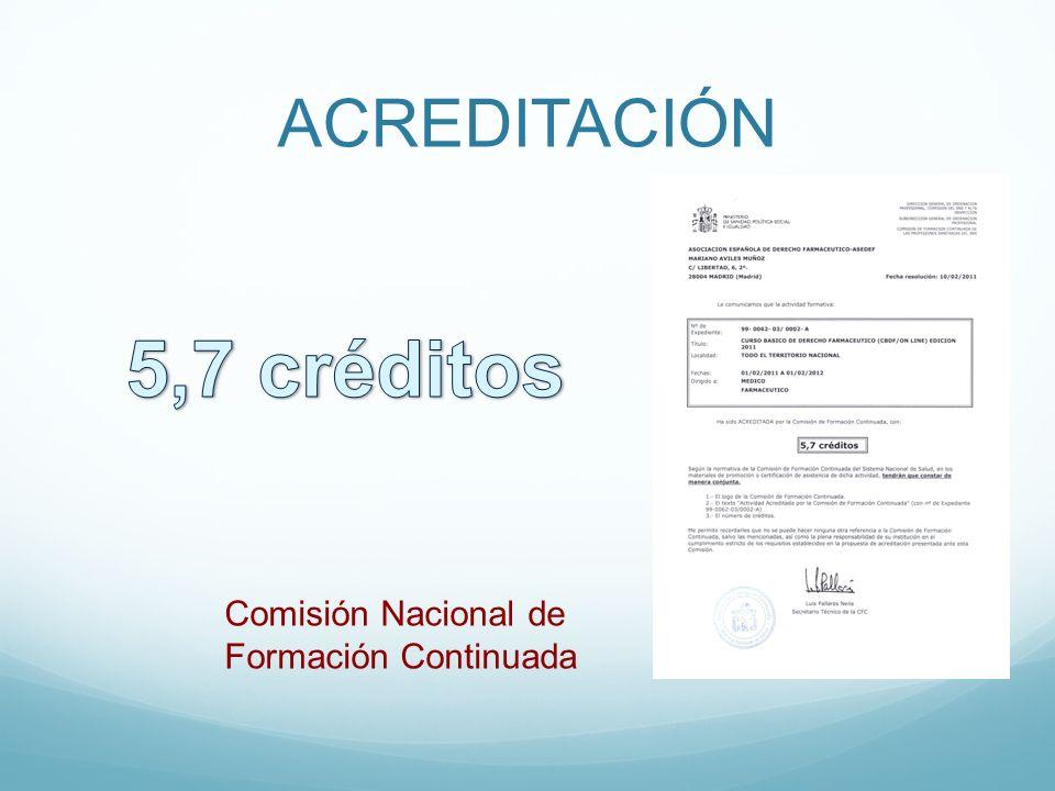 ACREDITACIÓN Comisión Nacional de Formación Continuada