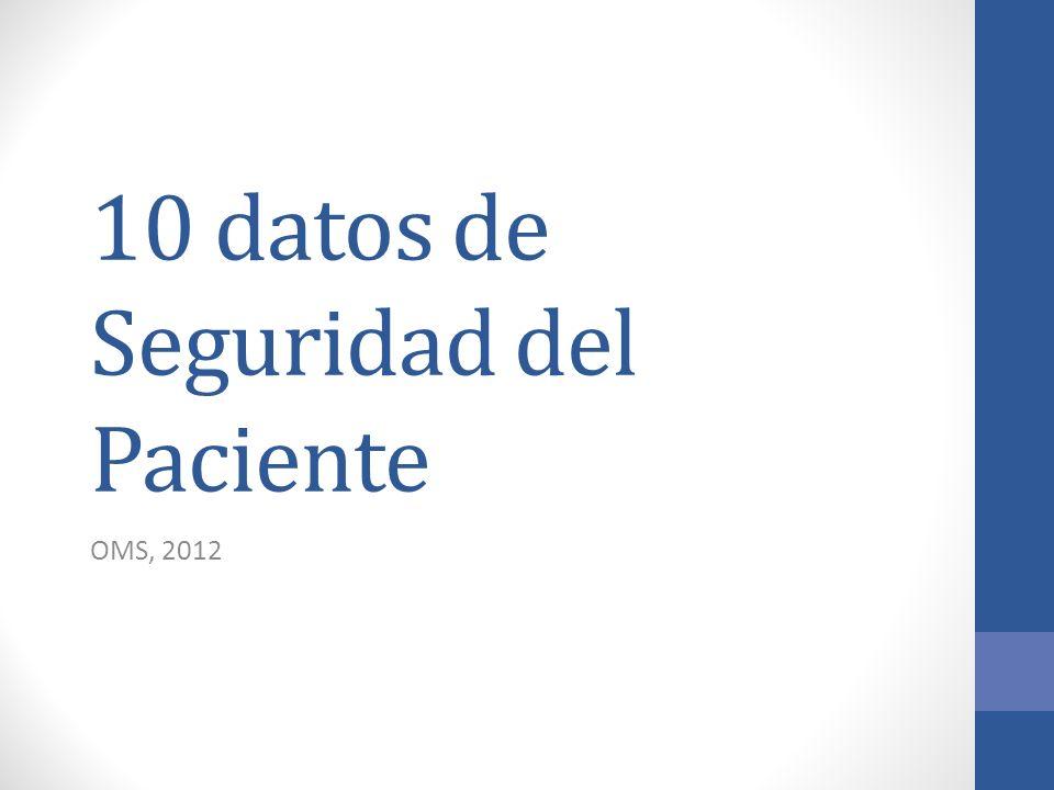 10 datos de Seguridad del Paciente OMS, 2012