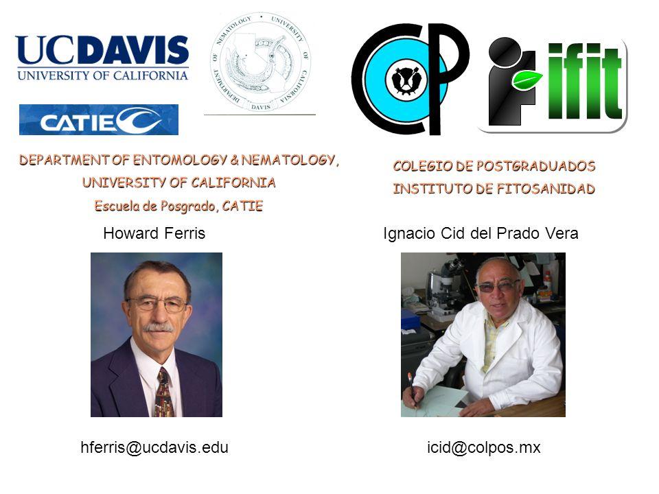 COLEGIO DE POSTGRADUADOS INSTITUTO DE FITOSANIDAD Howard FerrisIgnacio Cid del Prado Vera hferris@ucdavis.eduicid@colpos.mx DEPARTMENT OF ENTOMOLOGY &