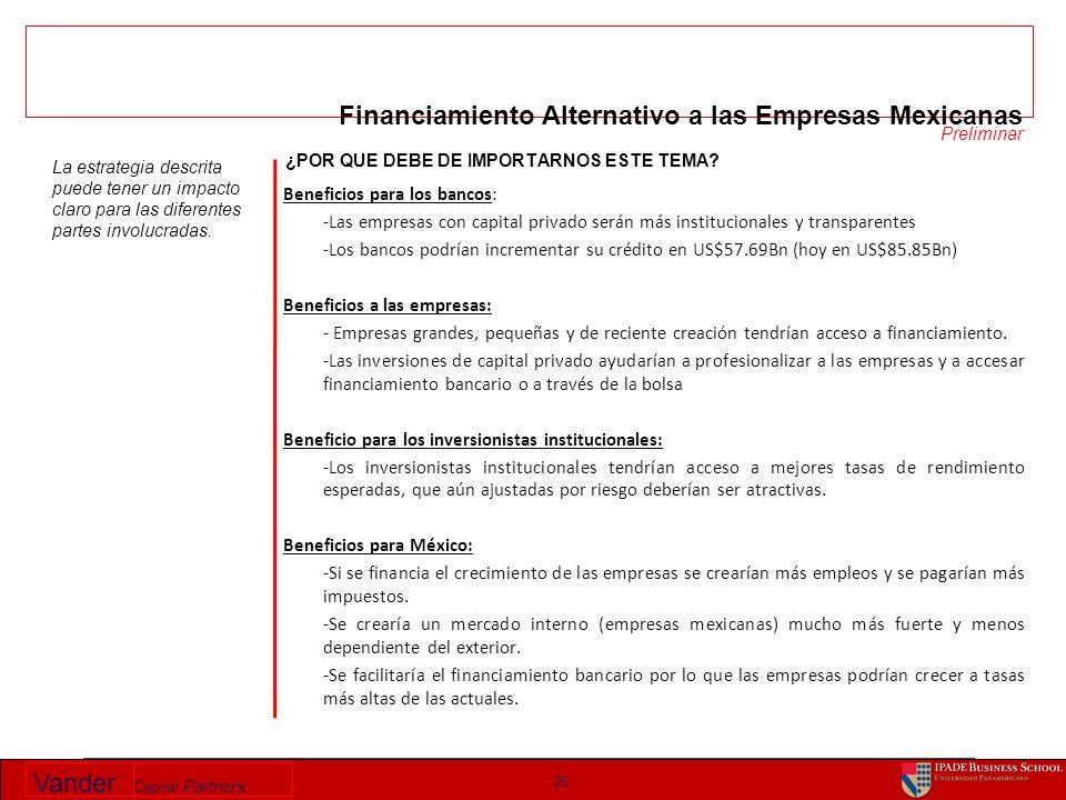 Vander Capital Partners 26 ¿POR QUE DEBE DE IMPORTARNOS ESTE TEMA.