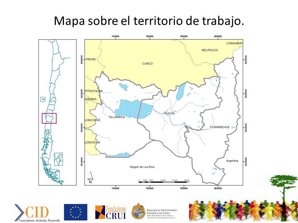 Mapa sobre el territorio de trabajo.