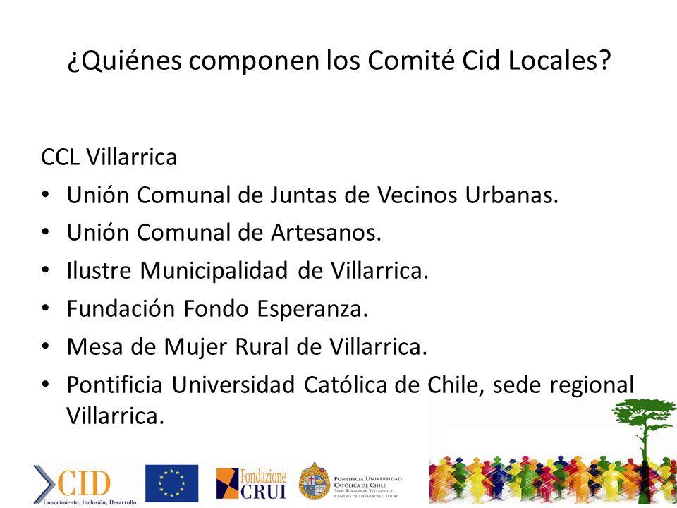 ¿Quiénes componen los Comité Cid Locales.