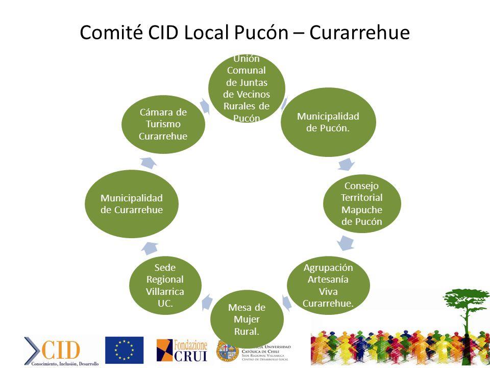 Comité CID Local Pucón – Curarrehue Unión Comunal de Juntas de Vecinos Rurales de Pucón Municipalidad de Pucón.