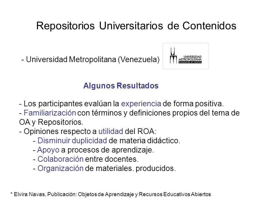 Repositorios Universitarios de Contenidos - Universidad Metropolitana (Venezuela) - Los participantes evalúan la experiencia de forma positiva. - Fami