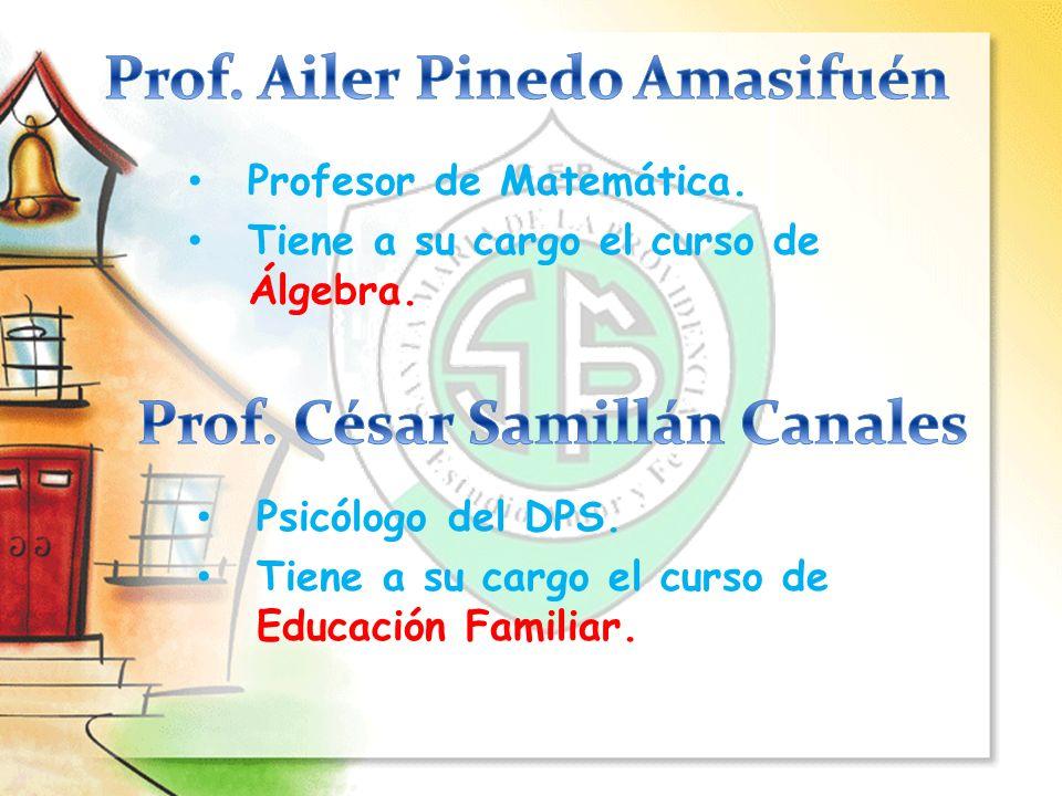 Profesor de Comunicación.Tiene a su cargo los cursos de Lenguaje y Razonamiento Verbal.
