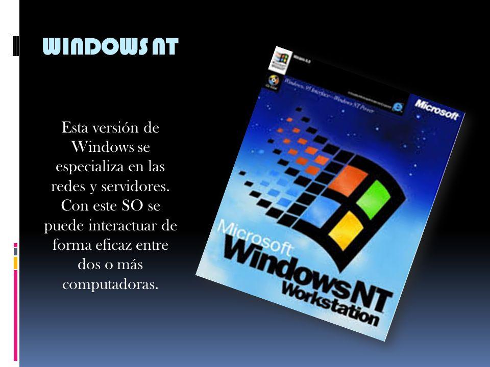 WINDOWS 95 En 1995, Microsoft introdujo una nueva y mejorada versión del Windows 3.1. Las mejoras de este SO incluyen soporte multitareas y arquitectu