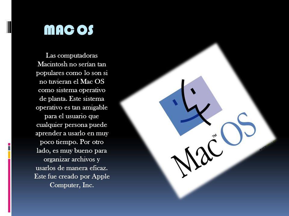 OS/2 Este SO fue hecho por IBM. Tiene soporte de 32 bits y su interfaz es muy buena. El problema que presenta este sistema operativo es que no se le h