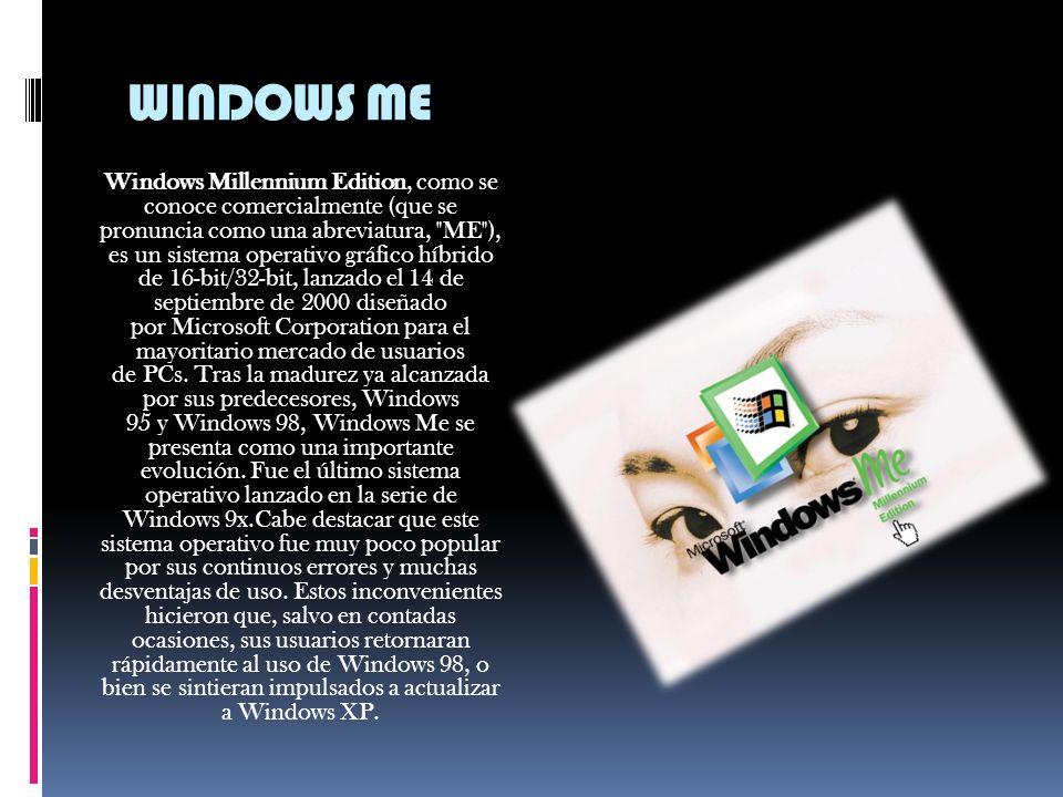 WINDOWS 2000 Windows 2000 es un sistema operativo de Microsoft que se puso en circulación el 17 de febrero de 2000 creado por Alonso en USA con un cam