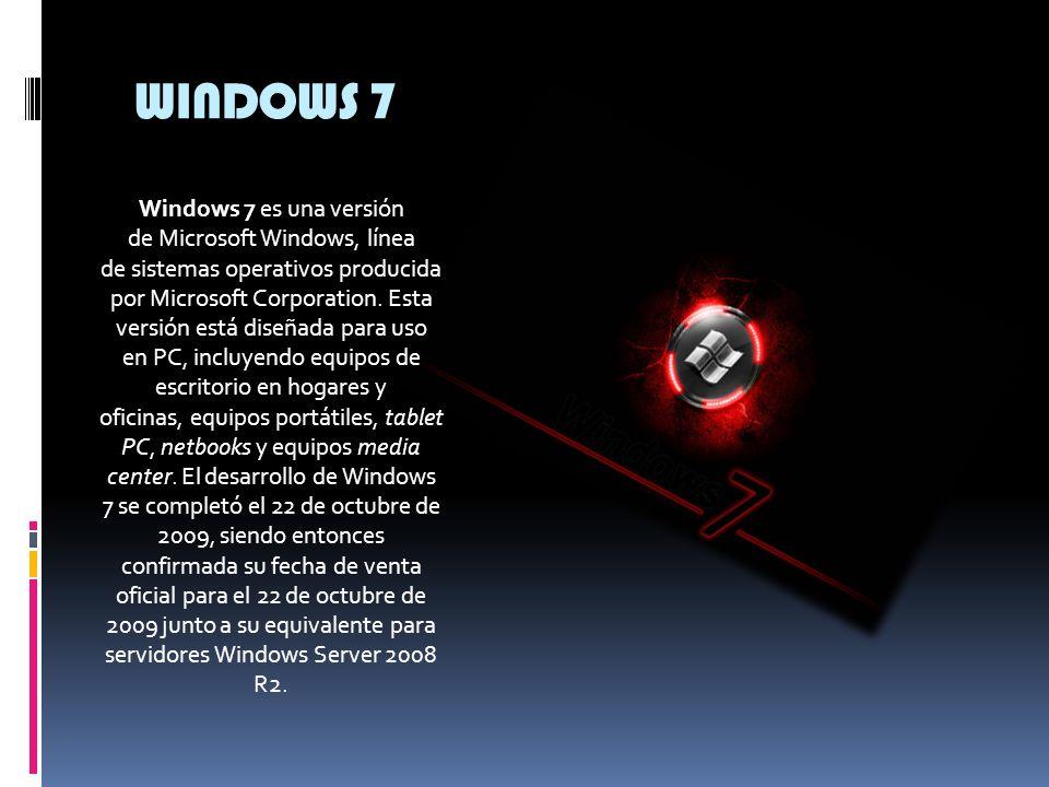 WINDOWS VISTA Windows Vista es una versión de Microsoft Windows, línea de sistemas operativos desarrollada por Microsoft. Esta versión se enfoca para