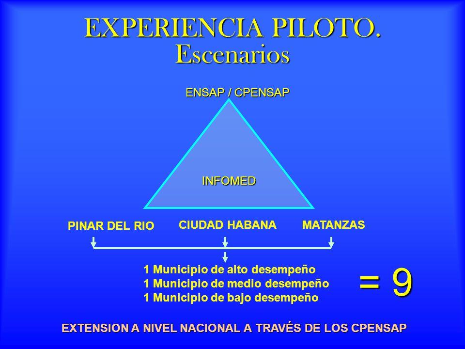 EXPERIENCIA PILOTO.