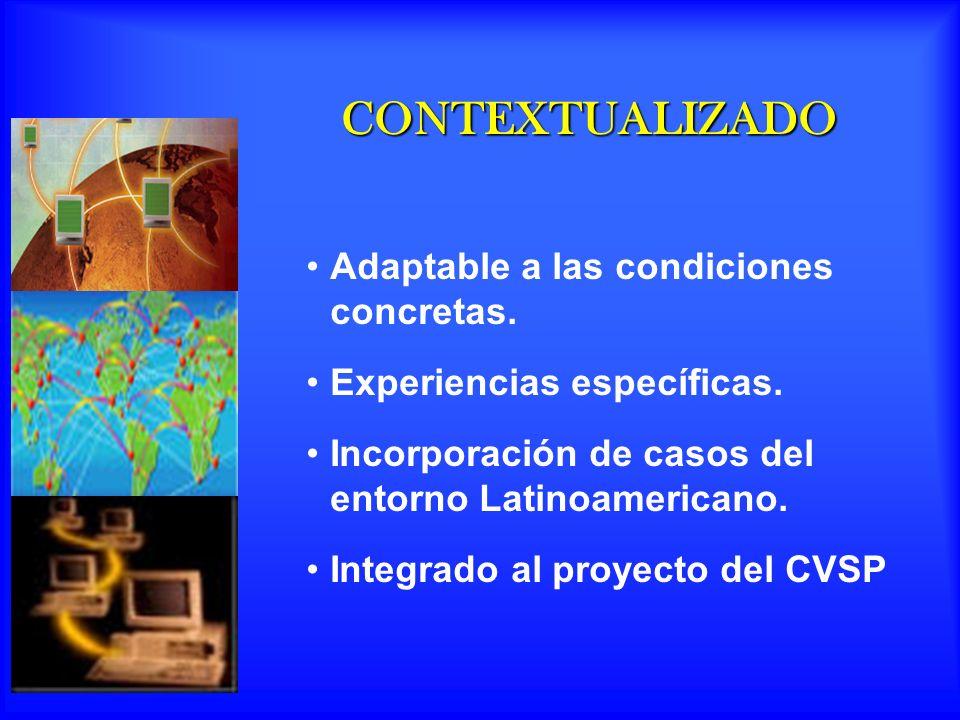 CONTEXTUALIZADO Adaptable a las condiciones concretas.
