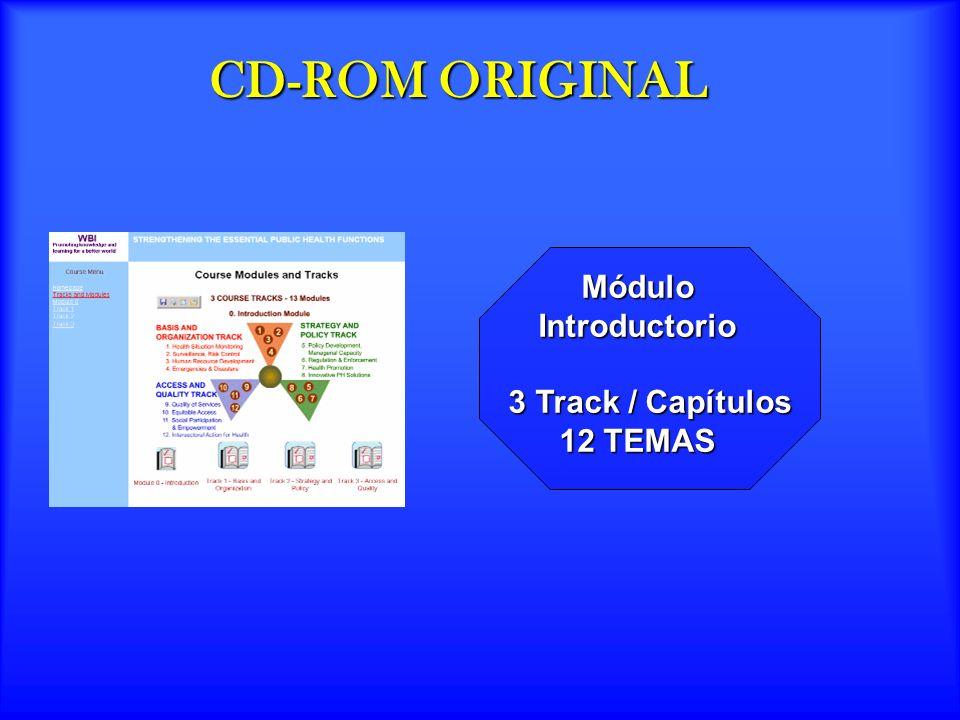 CD-ROM ORIGINAL Módulo MóduloIntroductorio 3 Track / Capítulos 12 TEMAS 3 Track / Capítulos 12 TEMAS